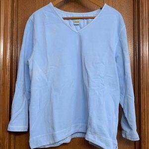 Eddie Bauer Blue V-neck Sweatshirt Sz L